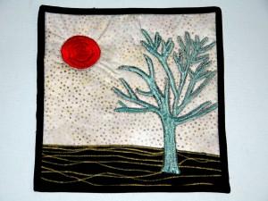 "Yarn Bomb Tree (8.5"" x 9"")"